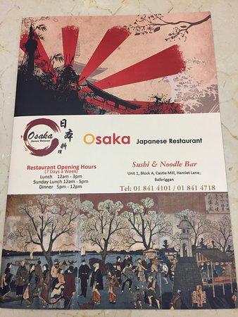 Balbriggan, Irland: Osaka Japanese Restaurant