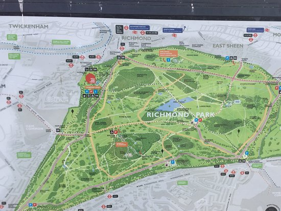 Richmond Park Map Map of the park   Picture of Richmond Park, Richmond   TripAdvisor Richmond Park Map