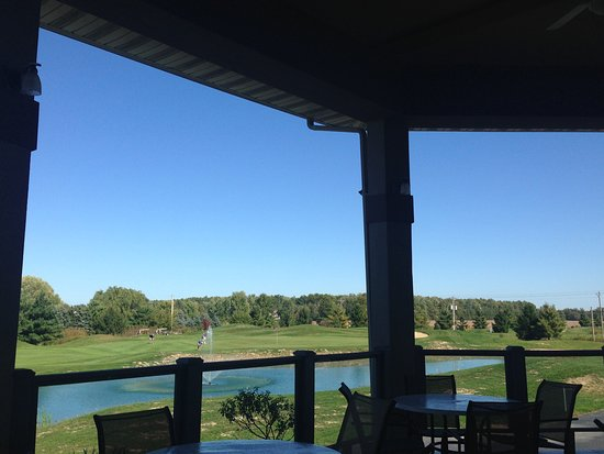 Lagrange, OH: View from the Patio toi Number 18 Green