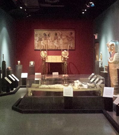 Grey Roots Museum & Archives: mummy room and throne