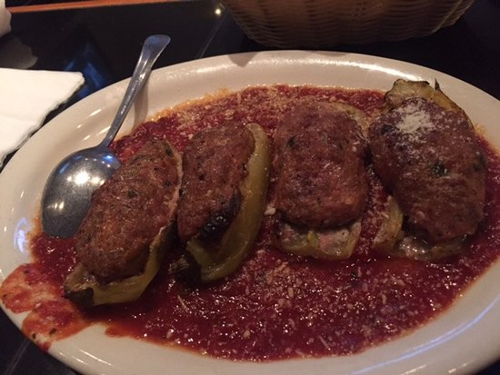 Carnegie, PA: Veal Stuffed Banana Peppers - A little spicy and very tasty!