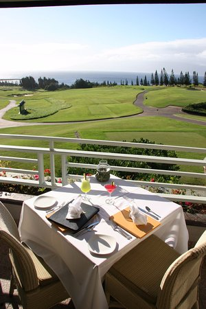 Plantation House Restaurant: Enjoy a table over looking The Plantation Golf Course and stunning views of  Honokahua Bay.