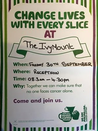 Eccles, UK: Macmillan Cancer Day at The Ivy Mount