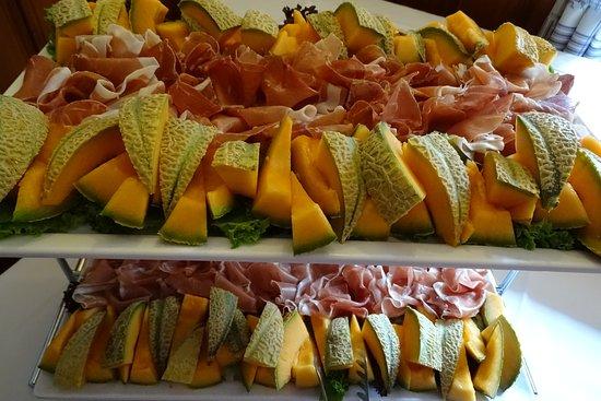 Perchtoldsdorf, Austria: Melonen mit Prociutto