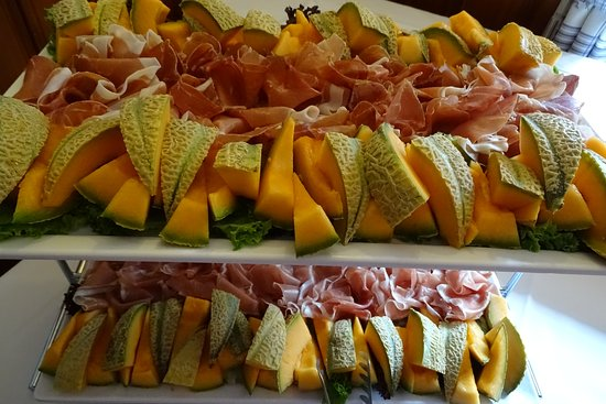 Perchtoldsdorf, Österrike: Melonen mit Prociutto