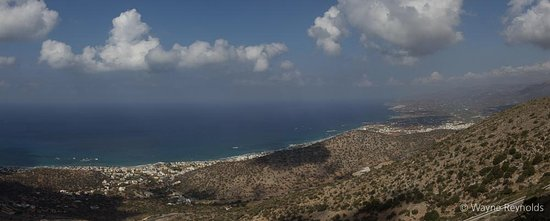 Malia, Hellas: Day over - the view on the descent