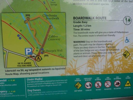 Newbridge, أيرلندا: Route from carpark
