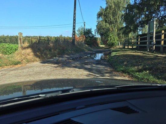Haasrode, Belgium: Bad road