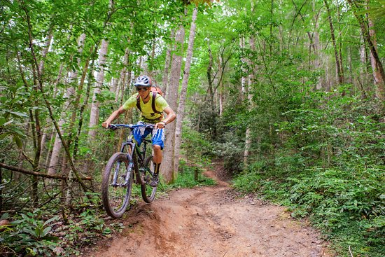 Blue Ridge Travelers' Towns & Trails Visitor Center: Kitsuma Peak, mountain bike trail, outside Old Fort!  This photo was shared by Camp Grier, thank