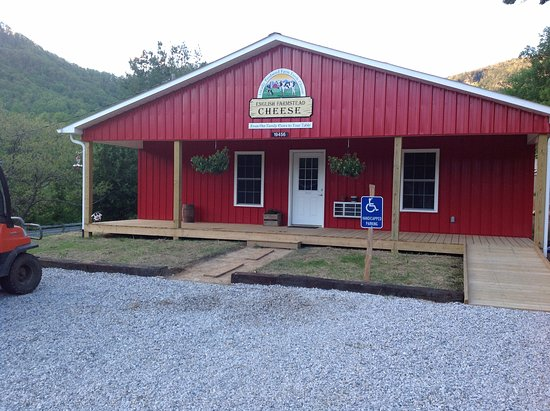 Blue Ridge Travelers' Towns & Trails Visitor Center: English Farmstead Cheese, located in the North Cove community, on US Hwy. 221 North.
