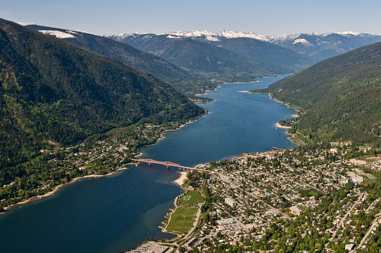 Looking down on Nelson, BC. Photo: David R Gluns