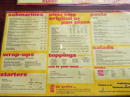 Berne, IN: Pizza King