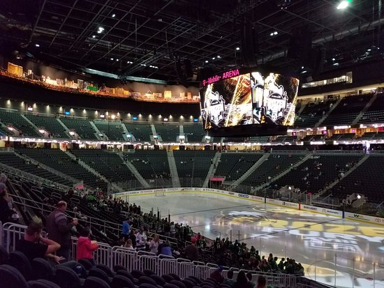 View from Row X Section 8 Picture of T Mobile Arena Las Vegas