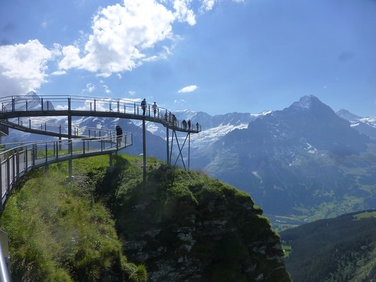 Grindelwald, Switzerland: le bout du First Walk