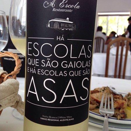 Alcacer do Sal, Portugal: Vinho da casa