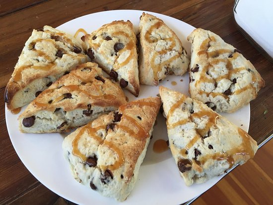 Emily's House B & B: Chocolate Chip Scones at Emily's House