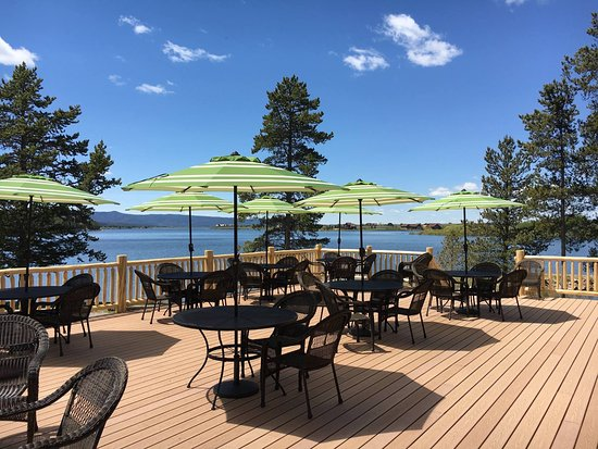 Island Park, ID: newest addition to the lodge beautiful view from the deck