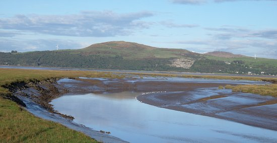 The River Bladenoch and Wigtown Bay from the bird hide