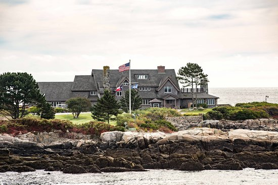 Kennebunkport, ME: Bush Compound on Walker Point on an Autumn Morning