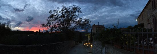 Montefollonico, Italia: The Village View at sunset! Lovely little stroll!