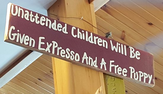Cove Cafe: Funny Sign
