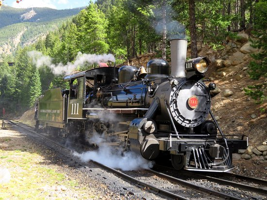 Georgetown, CO: A typical historic American Steam Locomotive (10/Oct/16).