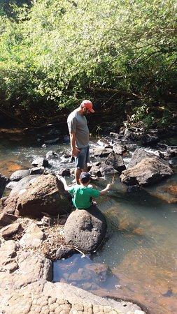 Medianeira, PR: Cachoeira próxima a Pousada, dá pra ir a pé, 5 minutos