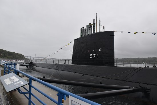 Groton, CT: closer view of the submarine.