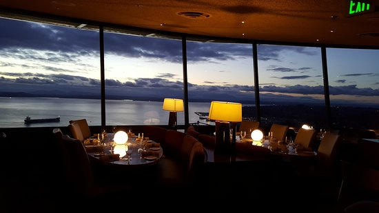 Space Needle Sky City  Sunset View from Sky City RestaurantSunset View from Sky City Restaurant   Picture of Space Needle Sky  . Dinner Seattle Space Needle. Home Design Ideas