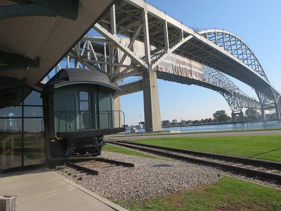 Thomas Edison Depot Museum: The depot is nestled under the BlueWater Bridge