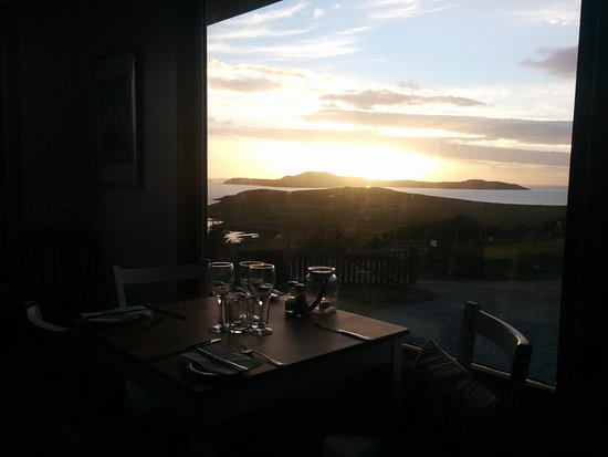 Achiltibuie, UK: a view from the restaurant