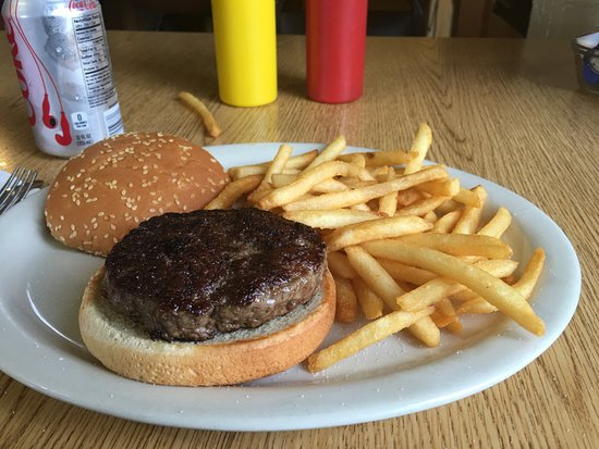 Gakona, AK: Hamburger and french fries ($14)
