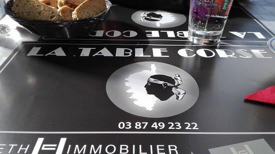 Restaurant La Table Corse Metz