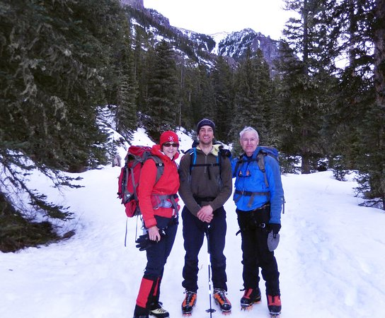 Bozeman, MT: Walking out of Hyalite Canyon after ice climbing.