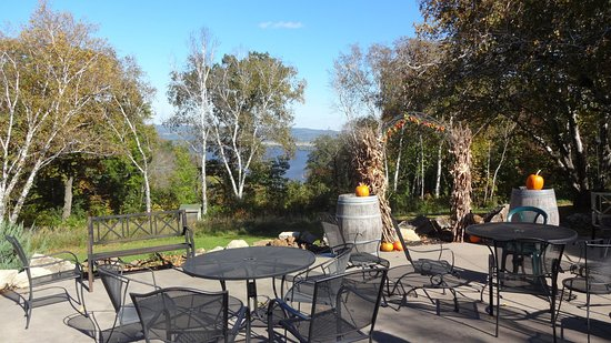 La Crescent, MN: October at the River View Vineyard