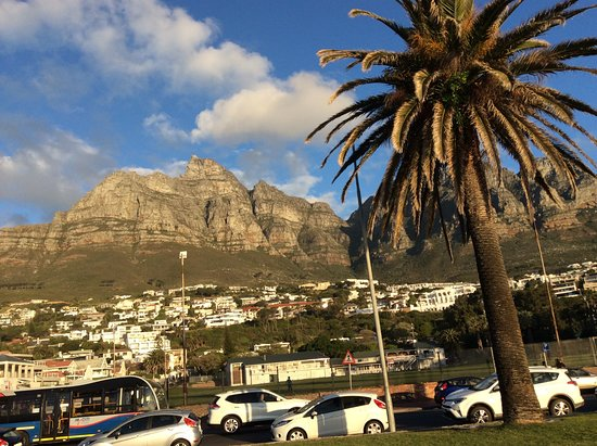 Beautiful view of the mountains from Camps bay.