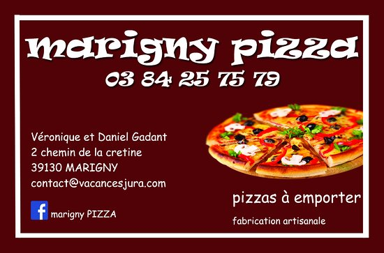 Marigny Pizza Carte De Visite