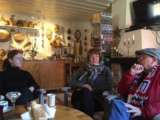 Finnmark, Norway: Great spot for travellers to chat with local Maj-Lis, owner of Suolovuopmi Fjellstue