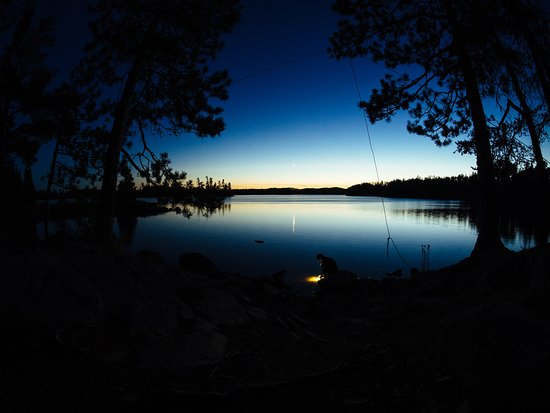 Ely, MN: Photo from our first night camping...