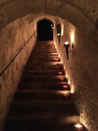 Kirn, Tyskland: Treppe zum Burgkeller