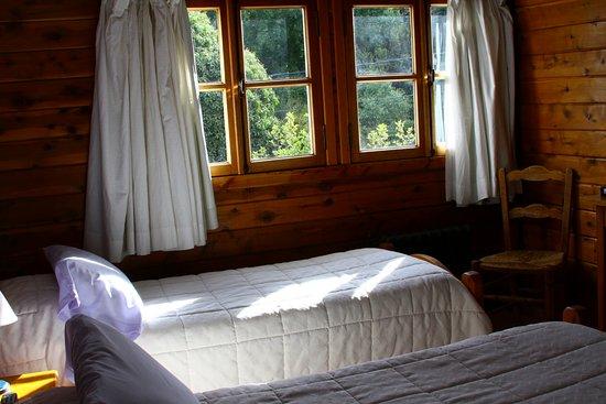 Hosteria Pajaro Azul: Hbitacion doble con camas separadas , vista al bosque