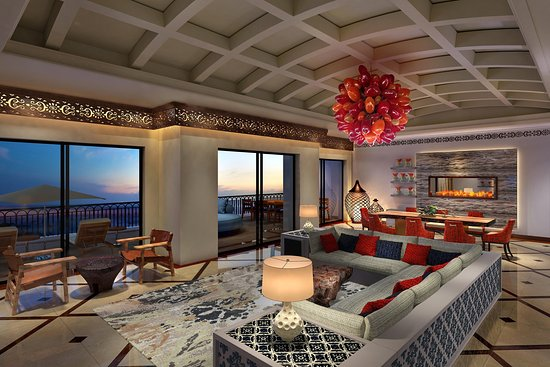 Hilton Los Cabos Beach & Golf Resort: Presdiential Suite Living Room