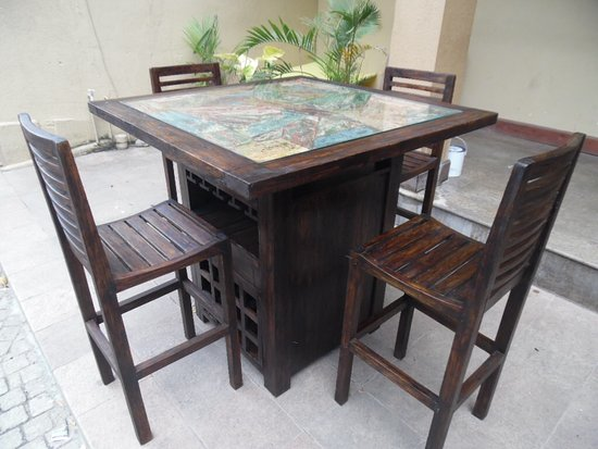 outdoor table chairs all teak picture of oak ray handcrafted