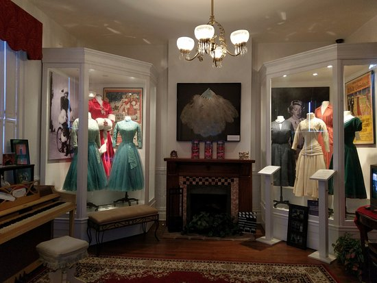 Rosemary Clooney House: A view of part of the main costume room - it's magical if you are a White Christmas fan!