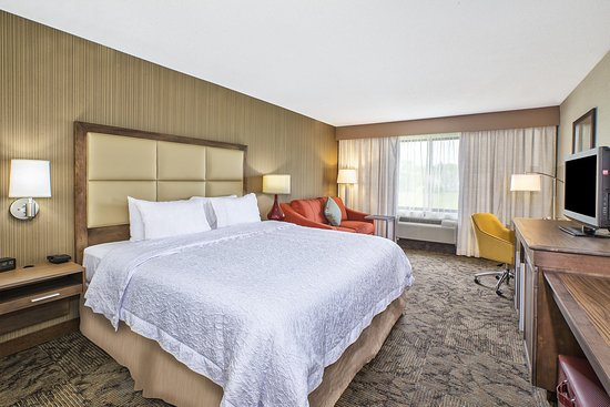 Hampton Inn Detroit Belleville: 1 King with Sofa Guest Room Alternate View