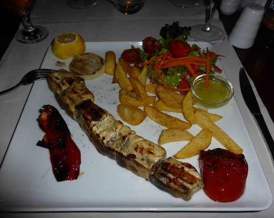 Bistro Blue: Fish kebab