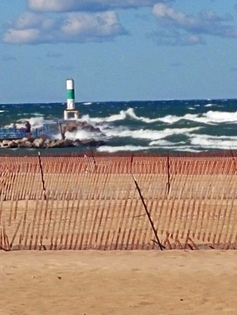 Holland State Park Beach: September weather can create some great waves!