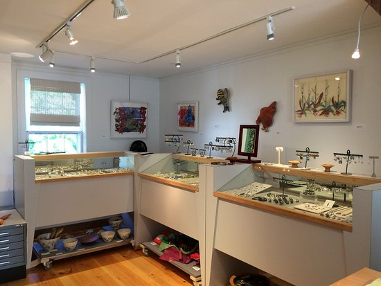 Deer Isle, ME: Craft and Jewelry in Barn Gallery