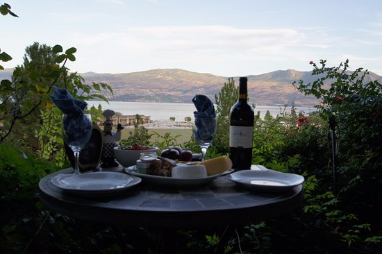 Apple Blossom Bed & Breakfast: Picnic dinner with a view!