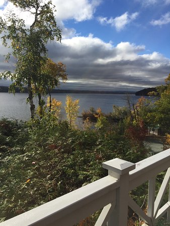 North Hatley, Canada: view from the Montcalm suite